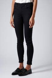 Topshop Moto 'Leigh' Mid Rise Skinny Jeans (Black) (Regular, Short & Long) available at Black Shorts, Black Jeans, Ankle Grazer Jeans, Topshop Style, Nordstrom, Fall Capsule Wardrobe, Denim Outfit, Mid Rise Skinny Jeans, Jean Outfits