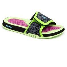 d18649049316 Nike  Jordan Hydro II  Sandal (Men) Flash Lime  Blue  Black  Pink 15 M -  product - Product Review