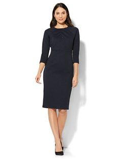 Shop Crossover-Detail Sheath Dress. Find your perfect size online at the best price at New York & Company.
