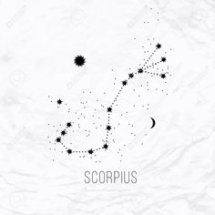 Astrology Scorpio sign on white paper background. - Astrology Scorpio Sign On White Paper Background. Royalty Free Cliparts, Vectors, And Stock Illustr - Mini Tattoos, Cute Tattoos, Body Art Tattoos, New Tattoos, Small Tattoos, Tatoos, Scorpio Zodiac Tattoos, Scorpio Constellation Tattoos, Horoscope Tattoos
