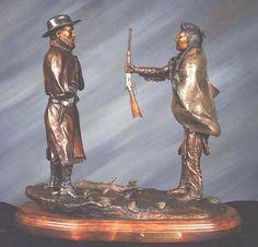 bronze - chief joseph and general howard....