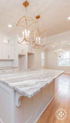 Beautiful Wood, White Kitchen, Custom Walk In Closets, Gold Kitchen Hardware, Plumbing Fixtures, Home, Kitchen, Custom Cabinetry, Closet Lighting
