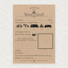 These funny wedding mad libs have a gorgeous Victorian theme. Guests fill in the blanks at your wedding reception for a fun keepsake to look back