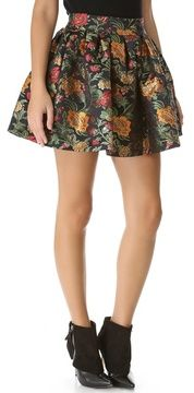 Alice + olivia Jack Box Pleat Floral Skirt on shopstyle.com