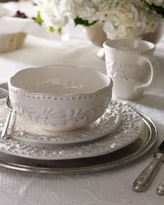 """Interiors.""""best keep to a good name 'Brand'&white.. Food always looks it best,,white Always.  Can 'Add colour:- by Solid coloured Mugs bowl's for breakie Time'•"""