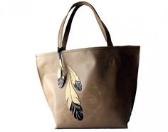 Hand Painted Leather tote. Tom Taylor Santa Fe.