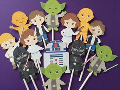 14 Star Wars inspired cupcake toppers cupcake toppers by Fairfable