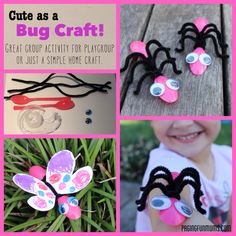 Bug Crafts with plastic spoons