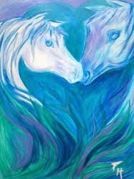 Pretty horses in the blue, Just For You Prophetic Art ile ilgili görsel sonucu Blue heart and horses in love.