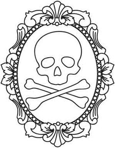 Paper Embroidery Patterns skull embroidery wonderful doodles too check out the whole WHOLE website or even if your looking for new idea in tattoos! Paper Embroidery, Cross Stitch Embroidery, Embroidery Patterns, Machine Embroidery, Skull Coloring Pages, Coloring Book Pages, Halloween Embroidery, Mandala Art, Urban Threads