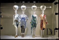 girls stand still, do not move, pinned by Ton van der Veer Window Display Design, Window Displays, Fashion Merchandising, Visual Merchandising, Retail Windows, Girl Standing, Visual Display, Window Dressings, Store Fronts