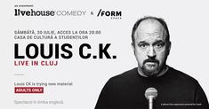 Learn more about SOLD OUT: Louis C. live in Cluj on Cluj-Napoca. Discover new events and things to do, learn more about Cluj and get information and advice in English. Michael Winslow, Dylan Moran, Jimmy Carr, Comedy Store, Comedy Events, Eddie Izzard, Louis Ck, Stand Up Comedians, Madison Square Garden