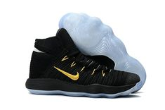 2017-2018 Newest And Cheapest New Hyperdunk 2017 Flyknit React Black Gold