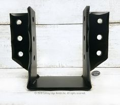 We make all kinds of custom steel joist hangers. These steel wood connectors are great when you want to have them not only hold together your rafters or fl. Wooden Workshops, Building A Cabin, Pallet Crates, Decorative Brackets, Outdoor Pavilion, Wood Joints, Building Products, Construction Tools, Post And Beam