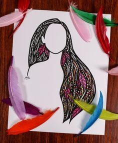 Zentangle - Colorful Wind by ZenspireDesigns on Etsy https://www.etsy.com/listing/241592269/zentangle-colorful-wind