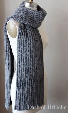 Most recent No Cost knitting scarf pattern Concepts Knitting pattern knit pattern scarf pattern knit scarf Mens Scarf Knitting Pattern, Mens Knitted Scarf, Knitting Patterns Free, Knit Patterns, Free Knitting, Men Scarf, Finger Knitting, Knitting Scarves, Knitting Tutorials