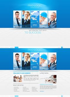 96 best website templates images on pinterest design websites blue business website template professional cheaphphosting Choice Image