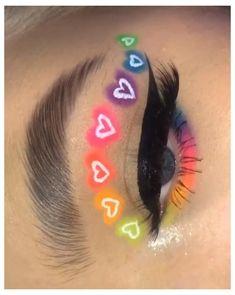 Indie Makeup, Edgy Makeup, Makeup Eye Looks, Eye Makeup Art, Crazy Makeup, Cute Makeup, Pretty Makeup, Eyeshadow Makeup, Disney Eye Makeup