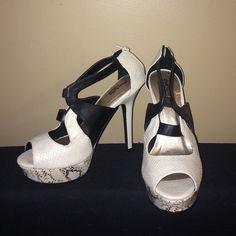 Heels NEVER WORN Black and White Heels Charlotte Russe Shoes Heels