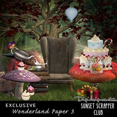 Printable Digital Scrapbooking FREEBIE Wonderland Paper 2 - Digital Scrapbooking Kits for the Perfect Digital Scrapbook