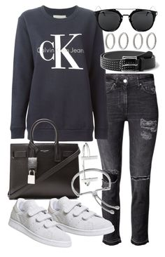 """Untitled #19828"" by florencia95 ❤ liked on Polyvore featuring Calvin Klein Jeans, Yves Saint Laurent, adidas, MANGO, Forever 21, Monica Vinader and French Connection"