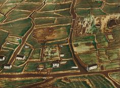 Aran island- Ireland      Aerial view of Aran islands. Mixed technician.