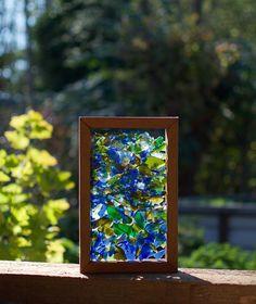 Freestanding Kaleidoscope Sea Glass Suncatcher