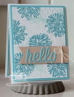Dandelion Wishes; Distressed Background Blocks; Happy Hellos Die-namics; Fishtail Flags STAX Die-namics - Inge Groot