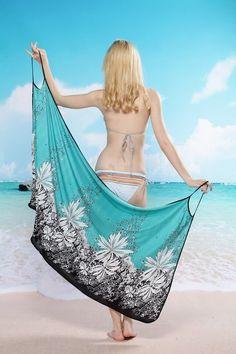 saida de praia verde, moda praia, cangas, promoção