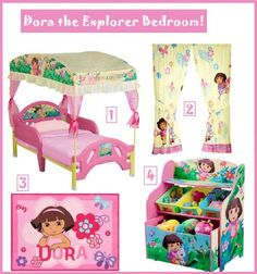 1000 images about for my kids on pinterest dora the for Dora themed bedroom designs