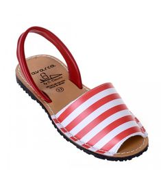 Sandale AVARCA Red Stripes Red Stripes, Espadrilles, Slip On, Shoes, Fashion, Espadrilles Outfit, Moda, Zapatos, Shoes Outlet