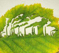 งานศิลป์บนใบสวย แคมเปญรณรงค์รับบริจาคต้นไม้ช่วยลดก๊าซคาร์บอน