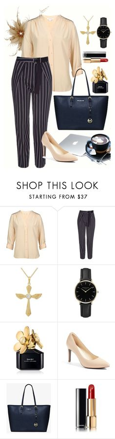 """""""Executive #1"""" by nelvilia-senawijaya ❤ liked on Polyvore featuring Diane Von Furstenberg, Topshop, Dyson, NOVICA, ROSEFIELD, Marc Jacobs, Cole Haan, Michael Kors, Chanel and pastel"""