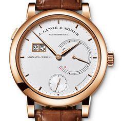 A. Lange & Söhne - Lange 31, ref.130032F - Manual-winding, cal.L034.1, 3Hz, 31dd p.r., date, power reserve indicator - 45.9mm, rose gold case, silver dial ~100k