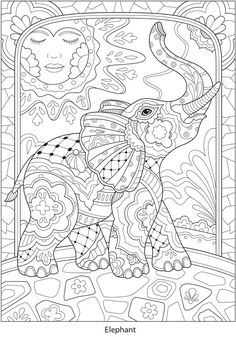 Welcome to Dover Publications - CH Festive Mexican Talavera Designs Ocean Coloring Pages, Blank Coloring Pages, Printable Adult Coloring Pages, Animal Coloring Pages, Coloring Pages For Kids, Coloring Books, Mandala Coloring Pages, Elephant Coloring Page, Mandala Doodle