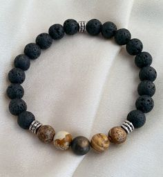 Hey, I found this really awesome Etsy listing at https://www.etsy.com/listing/254981631/mens-picture-stone-jasper-and-black-lava