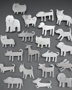 """Dog series"" by Sim Hyun-Seok. Silver 925."
