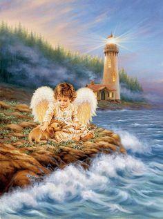 Dona Gelsinger - angel & dog
