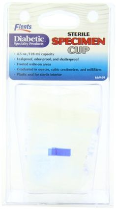 Sterile Specimen Cup - 4.5Oz / 128Ml, 2015 Amazon Top Rated Specimen Collection Containers #BISS