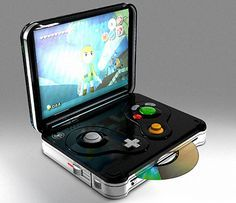 Portable gamecube wanna know what game it is? Legend of zelda wind waker, or phantom hour glass  or spirit tracks? Can't tell cause they all have the same link .