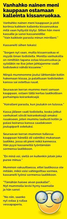 vanhahko_nainen_kissanruokaa_ostamassa_2 Haha, Funny Pictures, Jokes, Wisdom, Memories, Humor, Comics, Arduino, Funny Stuff