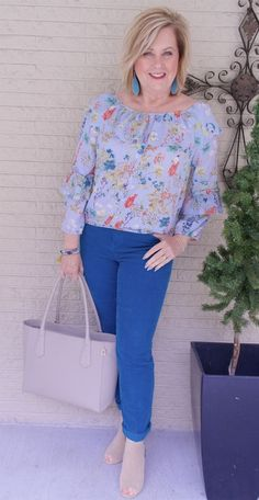 50 IS NOT OLD | SUMMER ROMANTIC LOOK | FASHION OVER 40 | Ruffles and Florals | Spring Trends | Romantic | Fashion over 40 for the everyday woman #women'sfashionover50 #women'sfashionforover50