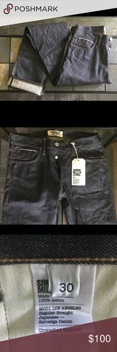 RRL Ralph Lauren Slim Narrow Shuttle Woven Denim Jeans Japanese Selvedge Raw