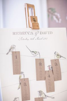 What a gorgeous table plan idea! #wedding