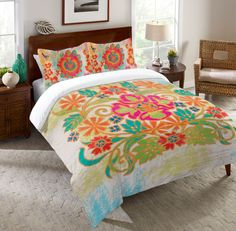 Bohemian Duvet Cover from Laural Home. Saved to Bedrooms! Shop more products from Laural Home on Wanelo. Orange Duvet Covers, Boho Duvet Cover, Luxury Bedding Sets, Dorm Bedding, Queen Bedding, Room Colors, Bunt, Interior Design, Beige