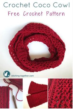 Coco Crochet Infinity Scarf