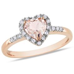 Heart and diamond ring
