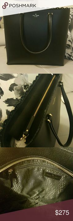 !!OFFERS!! New Kate Spade Lace Trim Tote *New *Retails for 429 *2 pockets, 1 zipper *open to all REASONABLE OFFERS kate spade Bags Totes