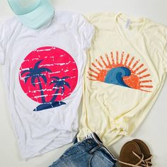 Summer Graphic Tees and Tanks Tie Die Shirts, Tee Shirts, Pretty Outfits, Cute Outfits, Tee Shirt Designs, Summer Shirts, Vintage Tees, Summer Looks, Graphic Tees