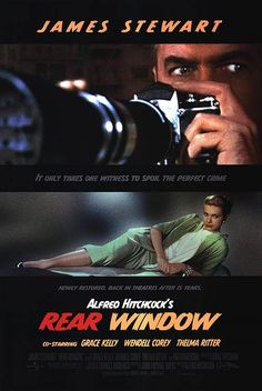 Rear Window. My mom would ALWAYS tell me when this was on!!! Love Jimmy Stewart AND Alfred Hitchcock
